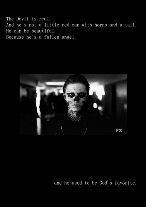american horror story quote Black and White quotes beautiful God ...