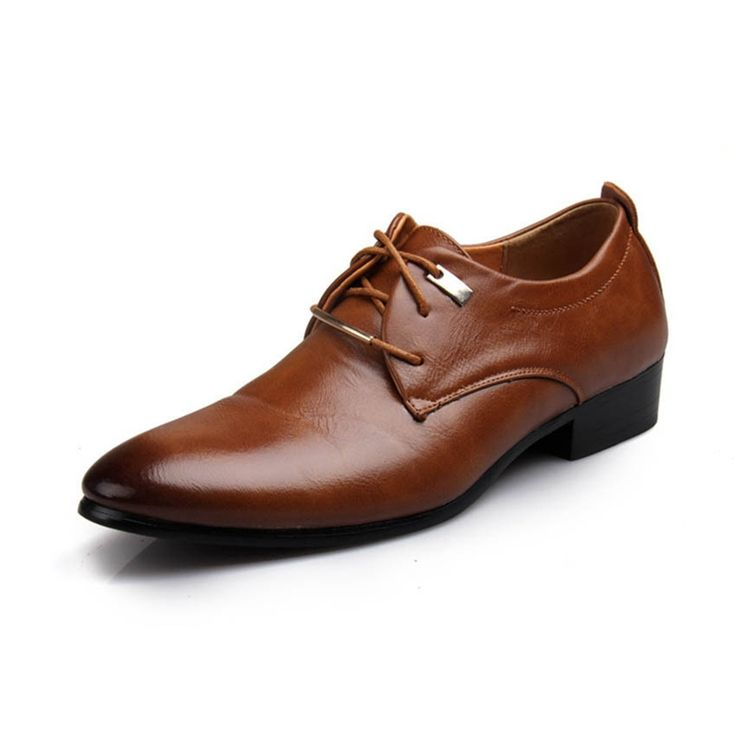 32.04$  Watch here - http://aliuh9.shopchina.info/go.php?t=32791542396 - Men Leather Shoes New Fashion Pointed Toe Lace Up Brown Oxford Fashion Brand Designer Flat Loafers Shoes Wholesale lacote shoes 32.04$ #aliexpresschina