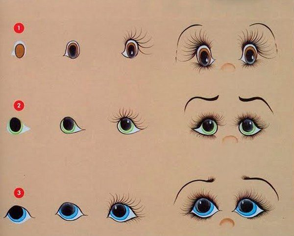 Рисуем глазки ! – 10 фотографий
