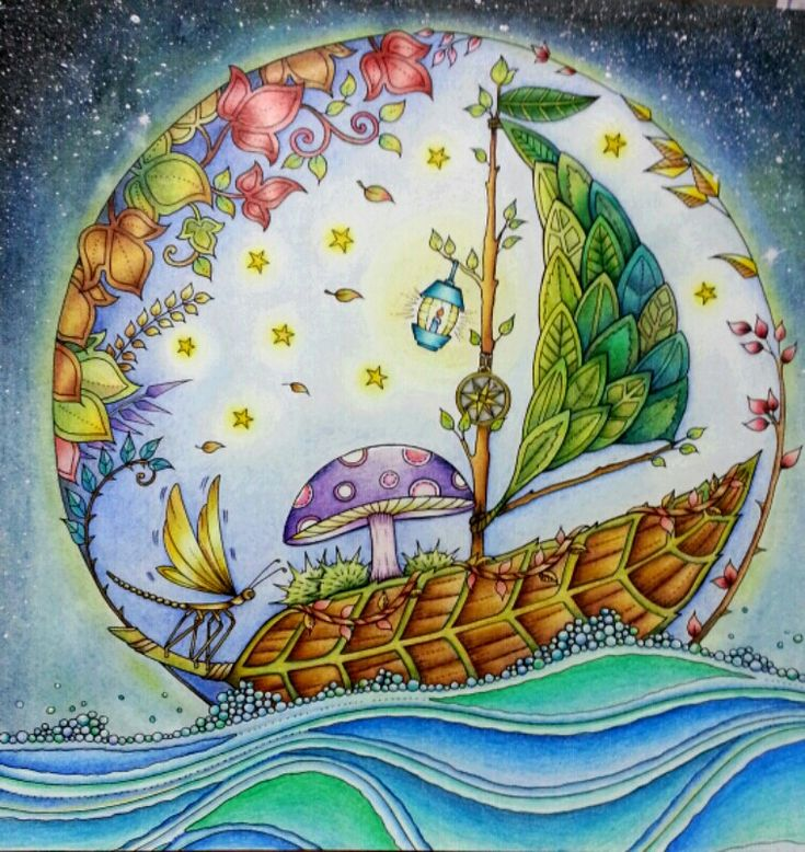 Enchanted Forest Johanna Basford Coloured By Esther