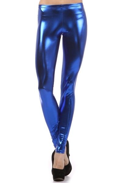 Metallic Leggings Royal Blue Shiny Leggings | Dance Wear, Dance ...
