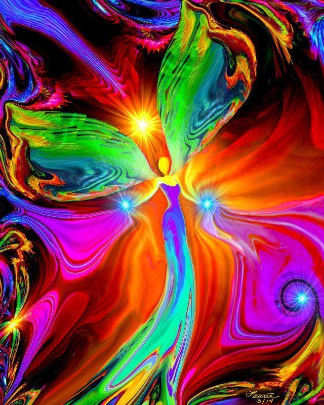 Chakra Art Energy Healing Reiki Angel Wall Decor