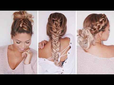 Boho Fishtail Braid Hairstyle For Spring/Summer | Ashley Bloomfield – YouTu…