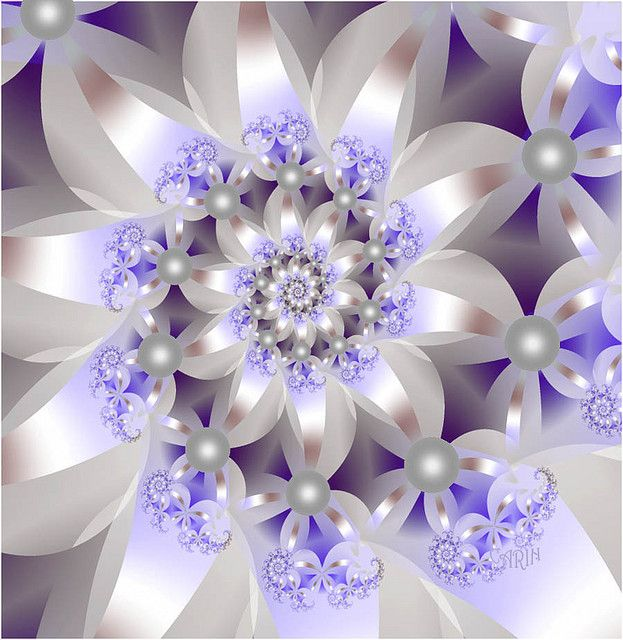 White and Lavender with Pearls Ultrafractal