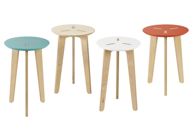 Pregadio stool - Sgabello reflects the spirit of the Pregadio collection, birch plywood molded into rounded and graceful shapes. The design is definite but at the same time light. Pregadio sgabello is designed to be assembled and disassembled easily.