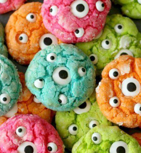 Gâteau d'Halloween : les cookies monstres
