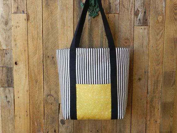 Black and white bag Tote bag by TeresasProjects on Etsy