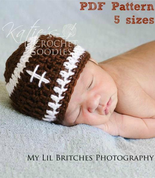 I want sombody to make cameron one of these oh please please!!!!!!!!      football hat crochet pattern