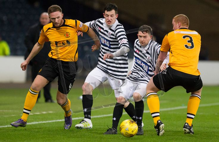 Queen's Park's Joe Bradley is tackled during the SPFL League Two game between Queen's Park and Annan Athletic.