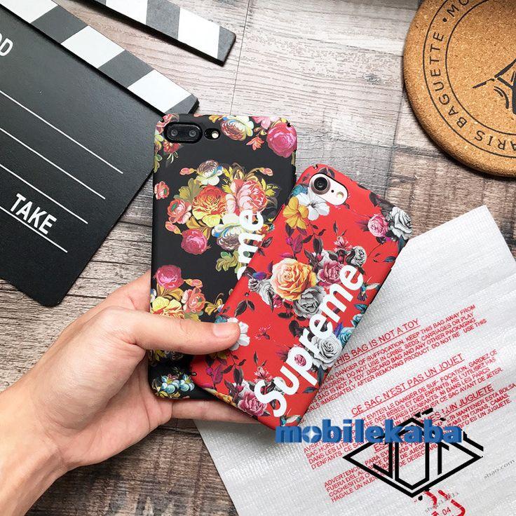 お揃いiphoneX の ケース個性的面白い花柄フラワーiphone7plus6sストリートファッションブランドsupアイフォンxハードケース8全包みマット素材iPhone8/7Plus/6s/X携帯カバー人気シュプリームSupremeスマホジャケット