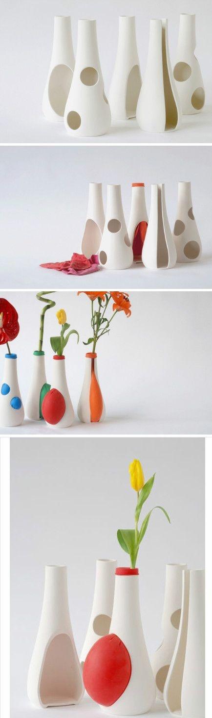 The creative vase designed by German designer Anika Engelbrecht.  This is super fun!