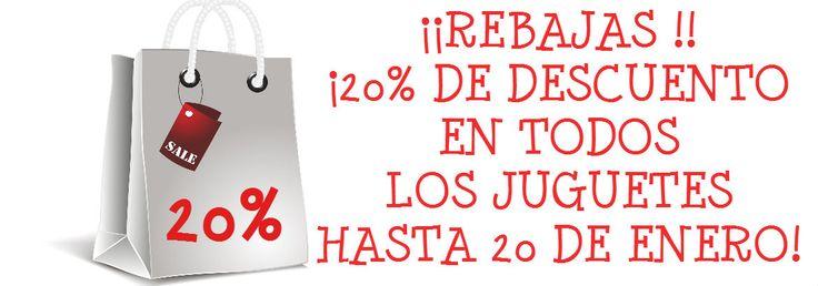 ¡¡MAÑANA ACABAN LAS REBAJAS!! ¿QUEDA ALGÚN DESPISTADILLO POR AHÍ ;)? #juguetes #ofertas #rebajas www.babycaprichos.com