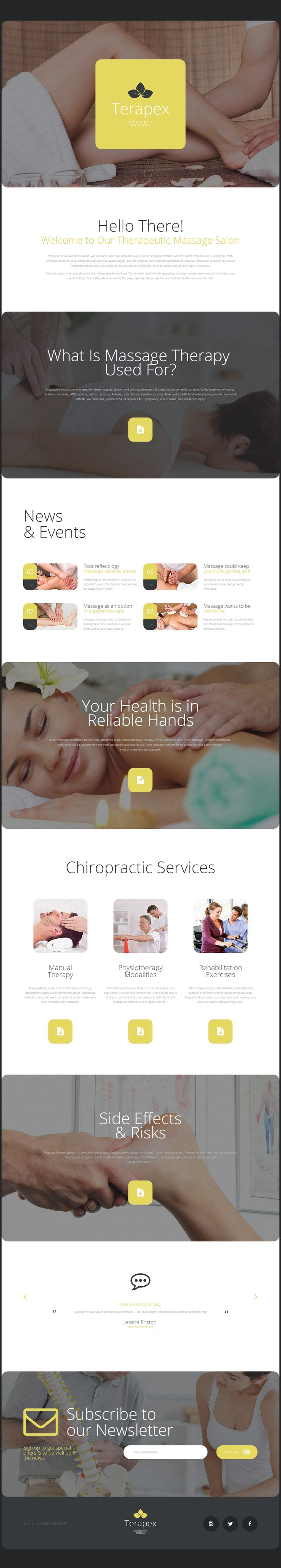Therapeutic Massage Landing Page Template on Behance