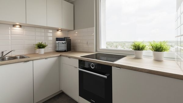 Built-in oven, Induction cooktop, Fully integrated dishwasher 60 cm