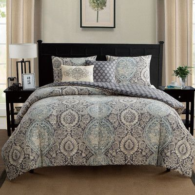 You'll love the Valencia Reversible Comforter Set at Wayfair - Great Deals on all Bed & Bath  products with Free Shipping on most stuff, even the big stuff.