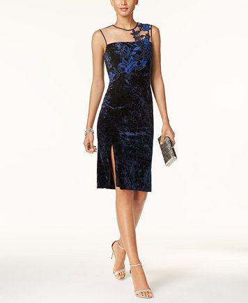 Ivanka Trump Velvet Illusion Dress | macys.com
