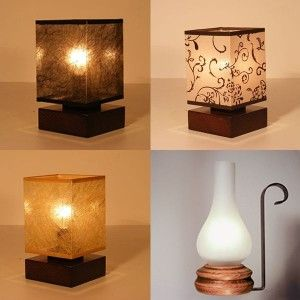 Cool Rustic Wooden Table Lamps - http://rustiklight.com/lighting-set/table-lamps