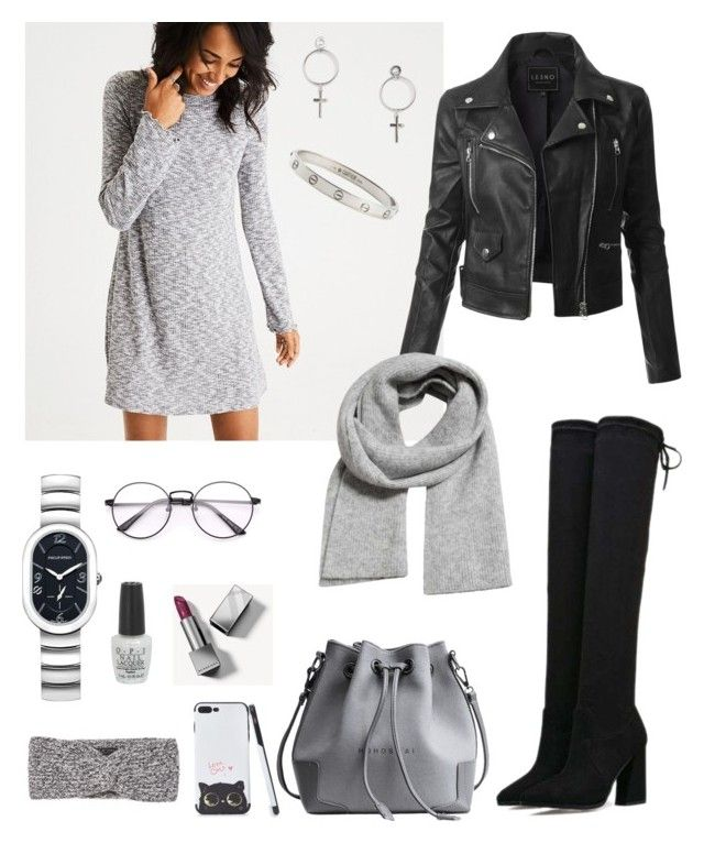 """""""Street & Casual Style"""" by matinapapadopoulou on Polyvore featuring American Eagle Outfitters, LE3NO, Burberry, OPI, Cartier, Philip Stein, MANGO and rag & bone"""