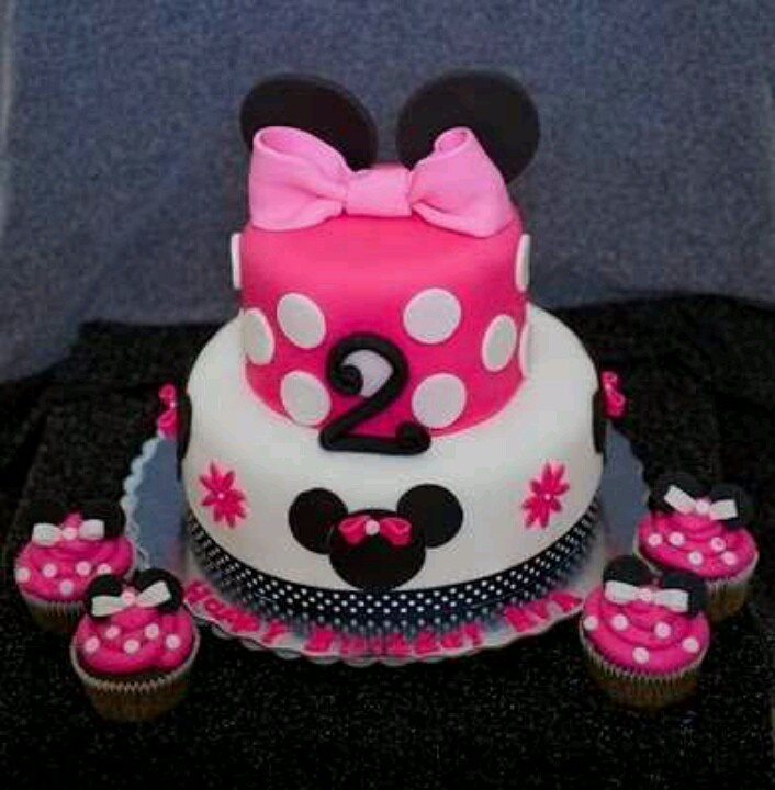 Minnie cake- cute for Alex's 2nd bday but aqua and pink :)