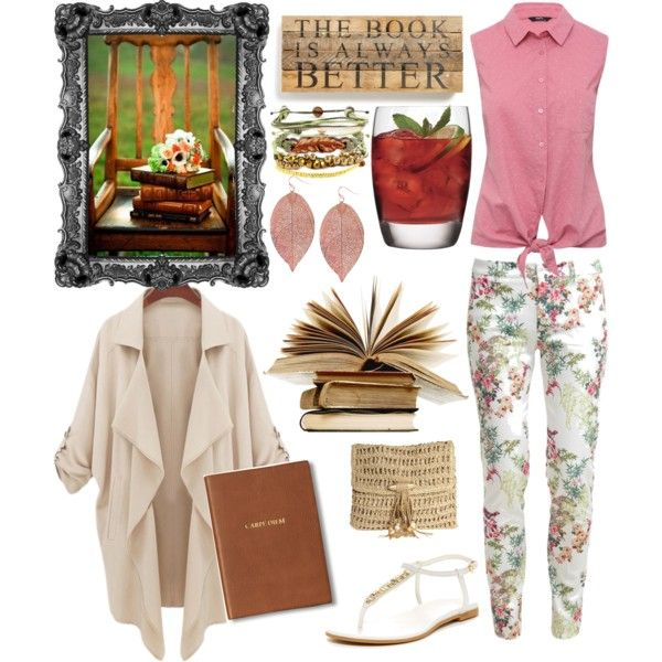 Relax, read a book. by amy-b1988 on Polyvore featuring polyvore fashion style M&Co LIU•JO Cole Haan Skemo Domo Beads Humble Chic Monica Rich Kosann Luigi Bormioli Second Nature By Hand