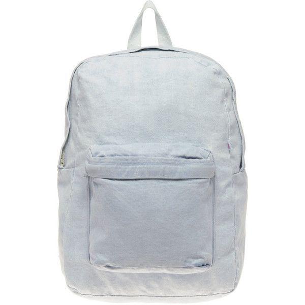 American Apparel Denim Backpack ($68) ❤ liked on Polyvore featuring bags, backpacks, accessories, fillers, women, padded backpack, rucksack bag, knapsack bags, shoulder strap backpack and denim backpack