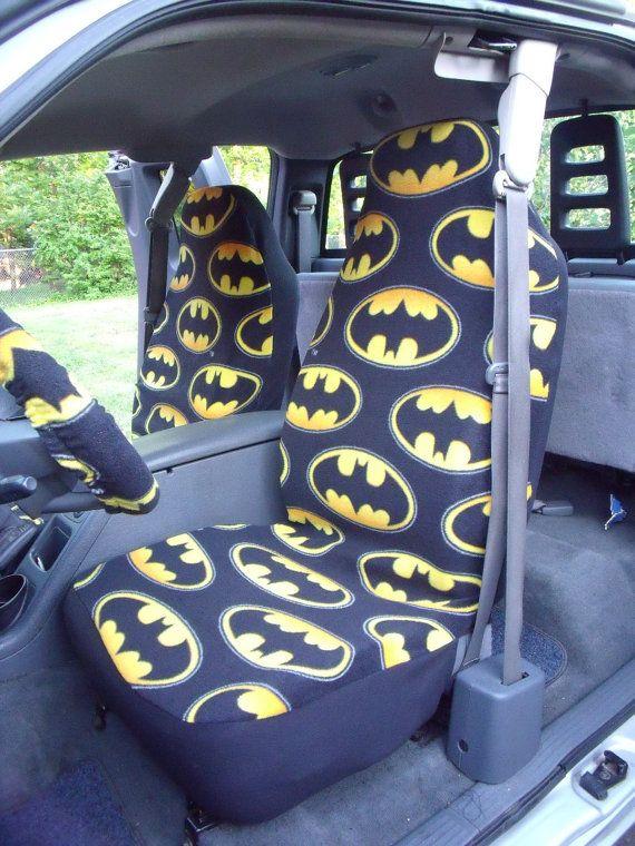 1 Set Of Batman Logo Unidirectional Design Print By ChaiLinSews Steering Wheel CoversSteering WheelsCar Seat