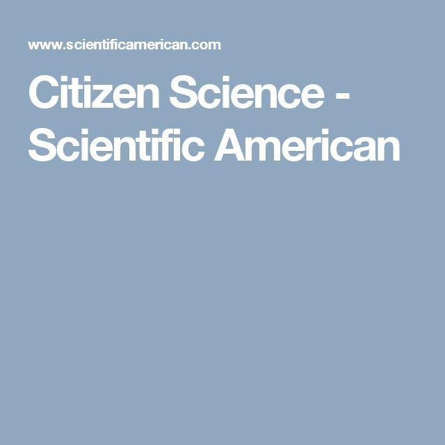 Citizen Science - Scientific American
