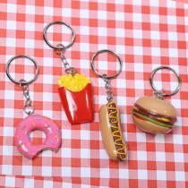 Porte-clef Fast Food - Burger Frites Doughnut & Hotdog