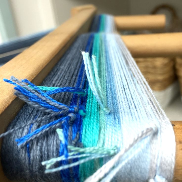 Second warp for the sunset hanging #sustainablefashion #sustainable #sustainableliving #sustainabletextiles #sustainabledesign #eco #ecofriendly #ecotextiles #plantbased #vegan #crueltyfree #organic #weaver #woven #woventextiles #textile #textiledesign #textiledesigner #luxury #luxuryyarn #luxurylife #luxurylifestyle #madeinhampshire #madewithlove #footpowered #organiccotton #organiccottonyarn #bamboo #bambooyarn #sunset #sky #blue #grey