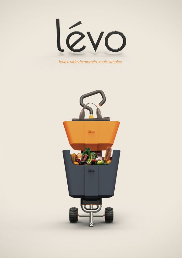 Levo - Multi Use Shopping Cart | Matheus Pinto & Fernando Ximenes