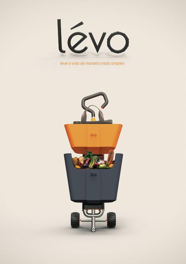 Levo - Multi Use Shopping Cart | Matheus Pinto & Fernando Ximenes