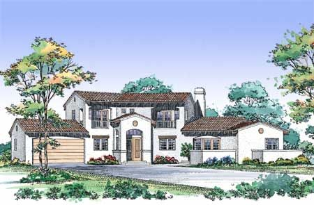 - 81379W   Florida, Mediterranean, Spanish, 1st Floor Master Suite, Den-Office-Library-Study, Jack & Jill Bath, PDF   Architectural Designs