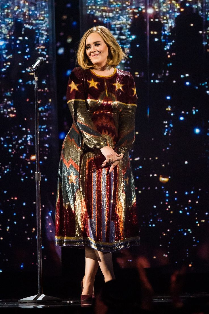 Adele looked great on the cat walk, and just as good on stage in her Valentino dress at the 2016 BRIT Awards