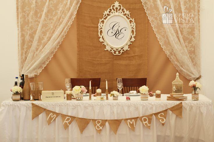 Sweetheart table. Presidium. Rustic wedding. Decor. Rustic Ideas. Flowers. Rose. Cage.  Peony.