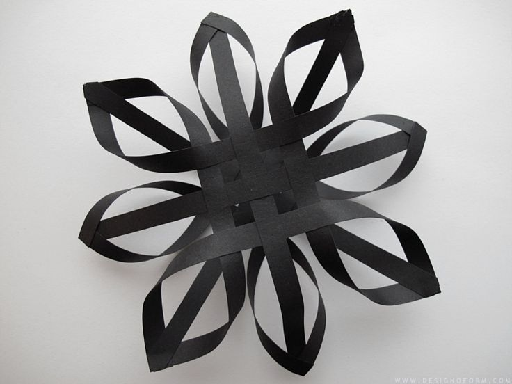 DIY black paper star. Tree topper, ornament, hanging party decoration?