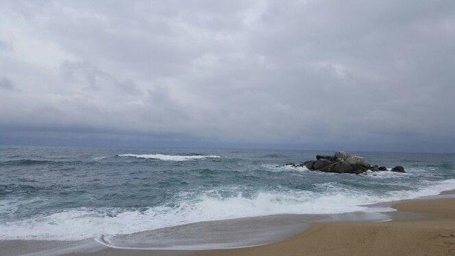 바우길 4구간 - 사천진해변 전경