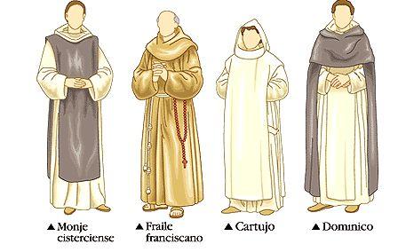 Así es como iban los monjes en la época medieval