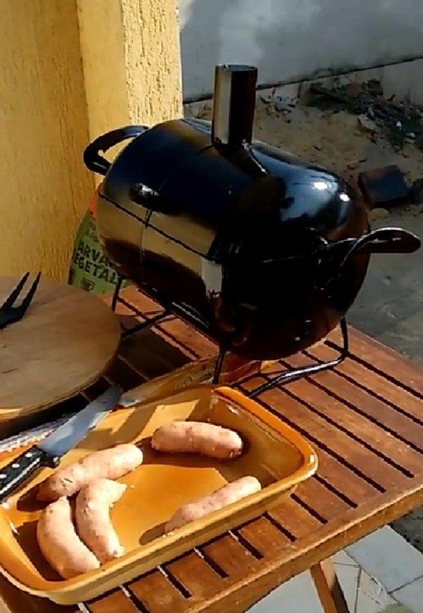 Mini Churrasqueira A Bafo Carvão Grill Para Mesa Churrasqueira De Tambor Churrasqueira Churrasqueira A Lenha