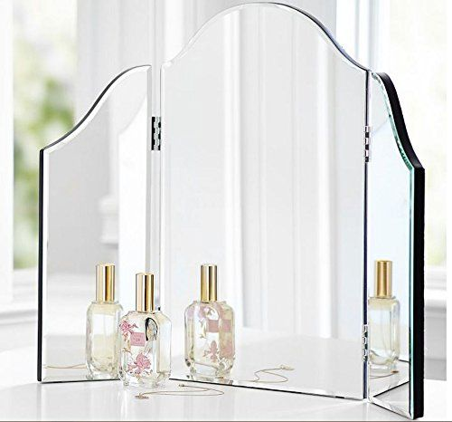 Trifold Vanity Makeup Mirror Bathroom Bedroom Dresser