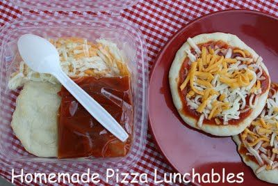 I'm sick of the kids asking for Lunchables. Have you ever checked out the ingredient list? gross. I've been told that the pizza lunchable is the BEST... I may try this!