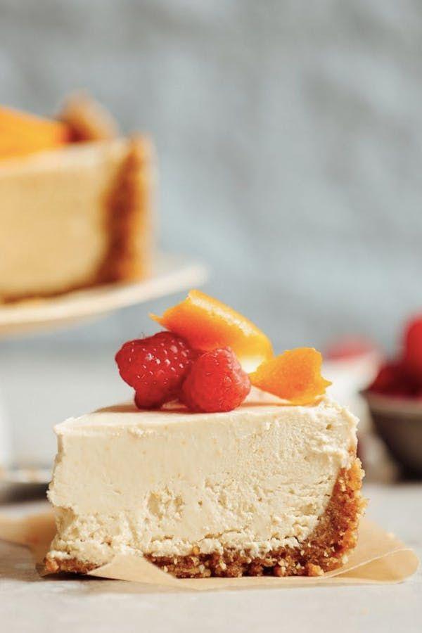 VEGAN NO-BAKE COCONUT YOGURT CHEESECAKE. 18 Decadent Vegan Dessert Recipes #purewow #recipe #baking #dessert #vegan #food #vegandesserts #dessertrecipes #coconutyogurt #vegancheesecake