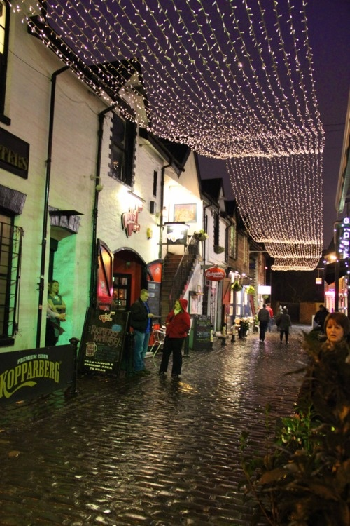 Ashton Lane in Glasgow's West End. Used to love going for Mussels and Belgium Beer down the lane.