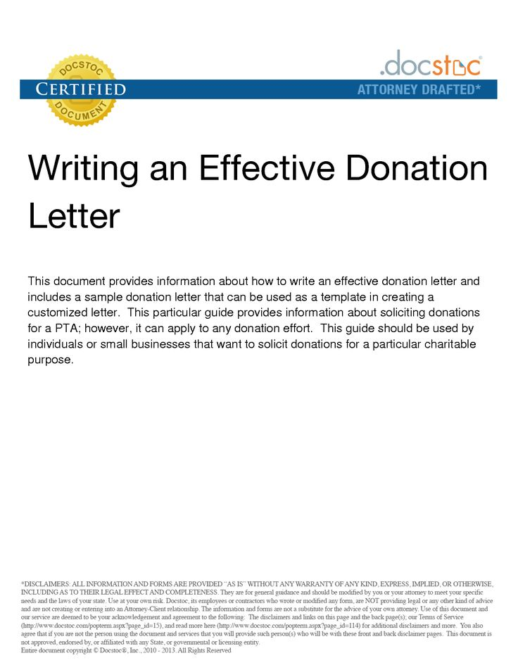 Más de 25 ideas increíbles sobre Donation letter samples en Pinterest - non profit thank you letter sample