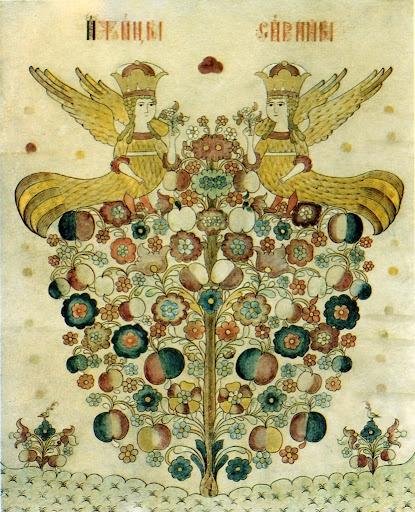 Sirin,the Bird of Paradise, 2nd half of the 19th century