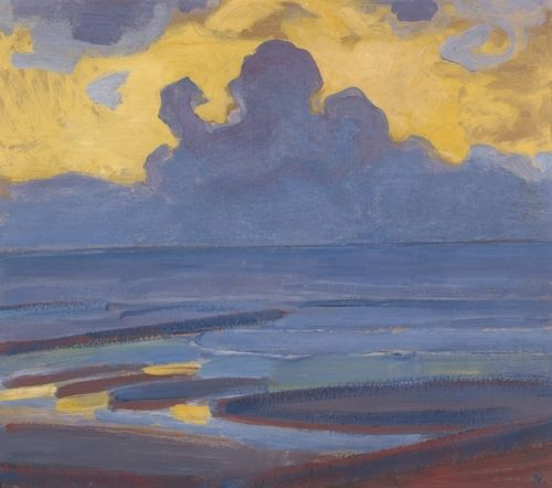 If you want to build a ship, don't drum up the people to gather wood, divide the work, and give orders. Instead, teach them to yearn for the vast and endless sea. - Antoine de Saint-Exupéry (Painting: By The Sea, Piet Mondriaan)