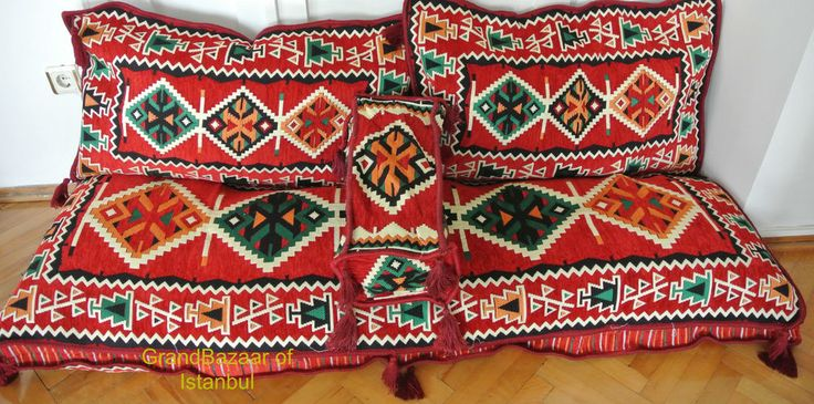 Turkish Kilim Corner Set X Large Sofa Cushion pillows Ottoman Lounge Couch  #UnbrandedHanmade #AsianOriental