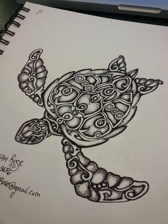 Sea Turtle by TheSwampRose.deviantart.com on @DeviantArt