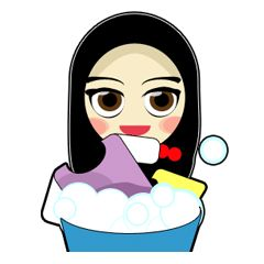 check out the Young Muslimah : Daily Life sticker by AMAUSTIKER on chatsticker.com