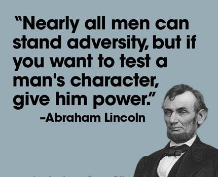 Particularly apposite in light of end of 2016 carryings on at the White House; Abe would not have been impressed, & neither am I.