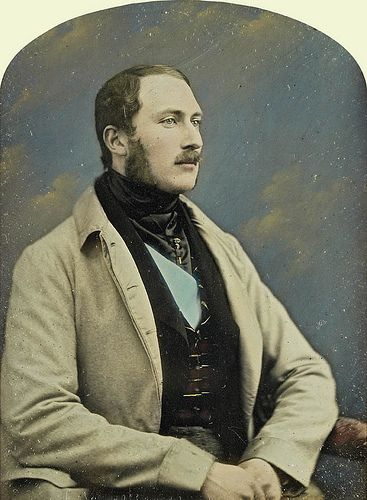 Prince Albert. It is sort of ironic that Victoria fell in love with this tall handsome man, and her great, great, great,granddaughter would find love at first sight as she did.